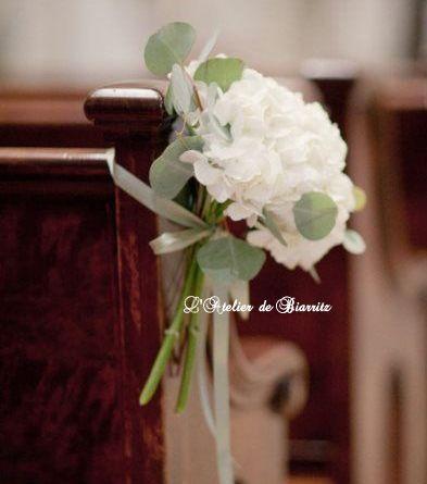 Délicat bouquet d'hortensia de l'Atelier Biarritz