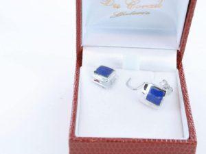 boucles d oreilles en lapis lazuli et argent 925 par 1000 BO-LA-LA-AR-018
