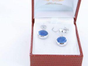 boucles d oreilles en lapis lazuli et argent 925 par 1000 BO-LA-LA-AR-019