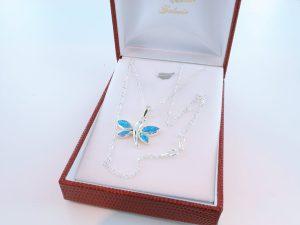 Pendentif en opale et argent 925 par 1000 PE-OP-BL-004