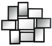 9-teiliger, schlichter Spiegel ca. 25€