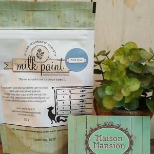 Tester Miss Mustard Seed's Milk paint Flow Blue