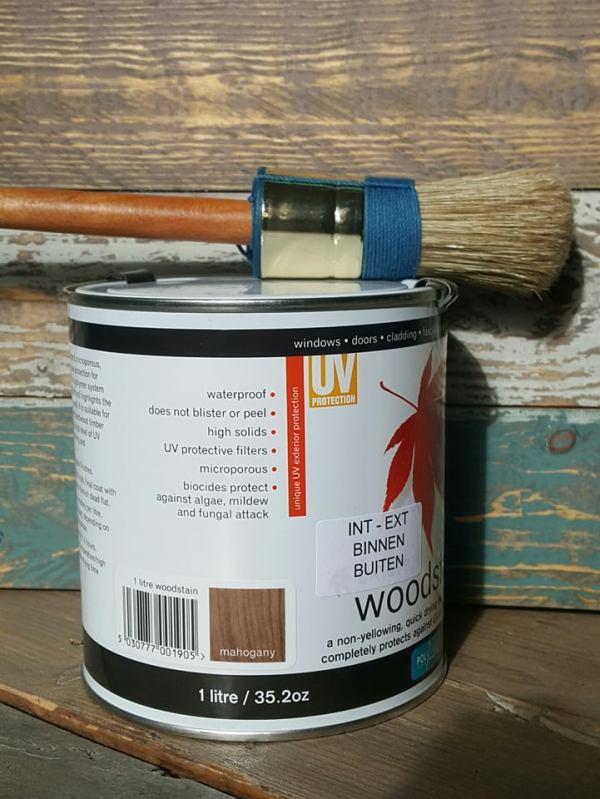 Woodstain  Mahogany 1 liter