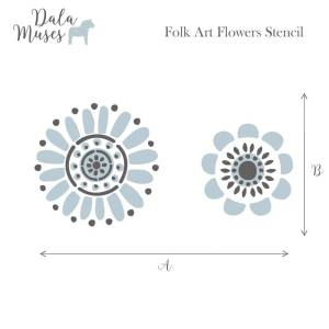 Folk Art Flowers Dala Muses