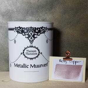 Metallic muurverf Rosy Copper 1 liter Maisonmansion
