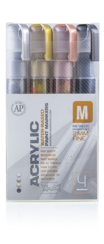 Montana acrylic set 2mm Metallic – 4 Markers