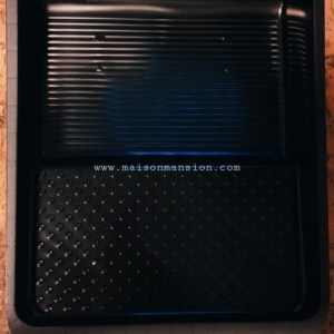 Verfbak zwart groot 26x32cm