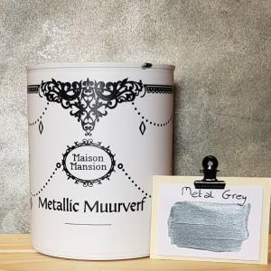 Metallic muurverf Metal Grey 1 liter Maisonmansion