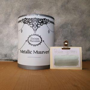 Pale Green Metallic muurverf 1 liter Maisonmansion