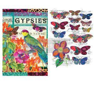 Transfer Boho Bird Butterfly MaisonMansion
