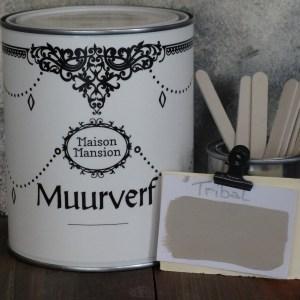 Tribal taupe Muurverf MaisonMansion