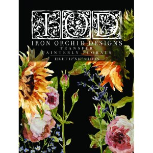 Transfer Painterly Florals van IOD
