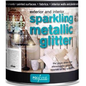 Glittervernis zilver 500 ml