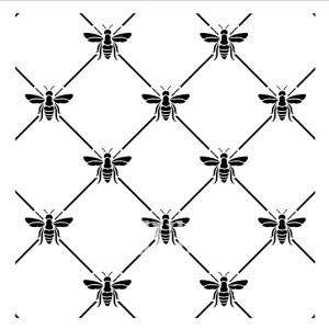 Bee Poshitive sjabloon 30 x 30 cm