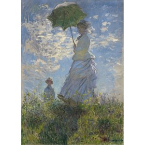 Lady with a Parasol decoupage