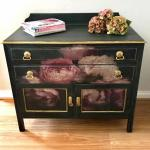 Moody Florals decoupage