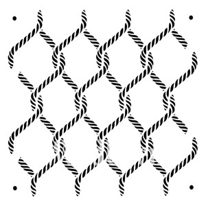 Posh Knots sjabloon 60 x 60 cm