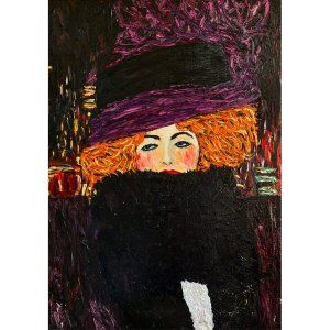 Purple Hat decoupage