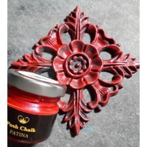 Red Medium Cadium Patina Wax aqua