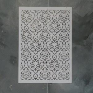 Victorian Wallpaper sjabloon 21 x 30 cm