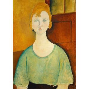 Woman In A Green Top Decoupage