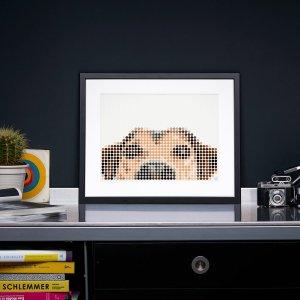 Hond DIY poster 50 x 70 cm