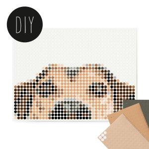 Hond DIY poster 30 x 40 cm