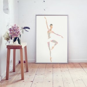 Ballerina Dot art 50 x 70 cm