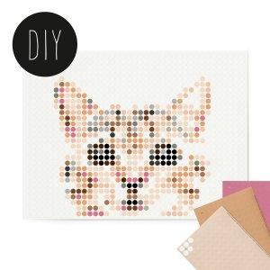 Kitten DIY poster 30 x 40 cm