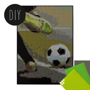 Voetballer Dot art 50 x 70 cm