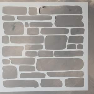 Brick Wall sjabloon 50 x 50 cm