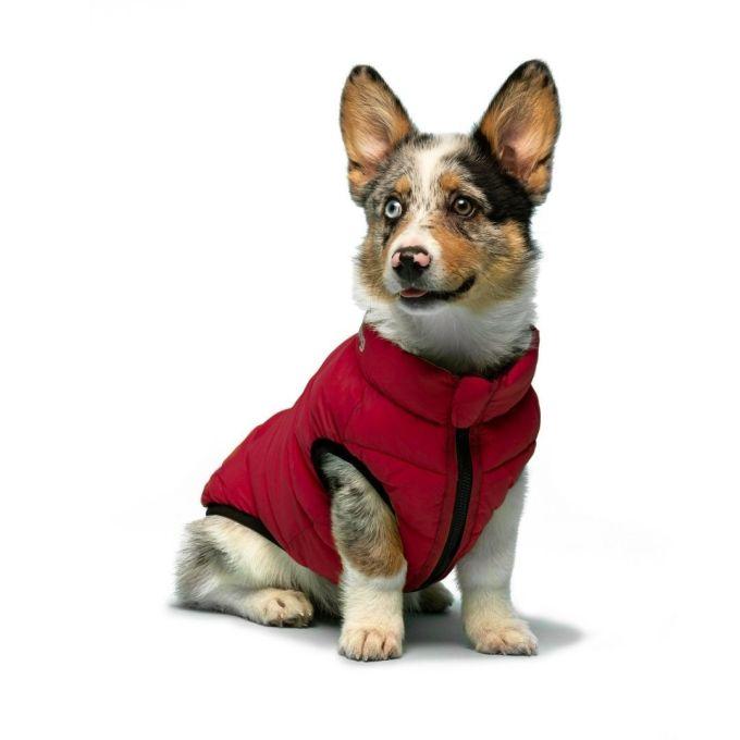 doudoune reversible bleu et rouge fabdog