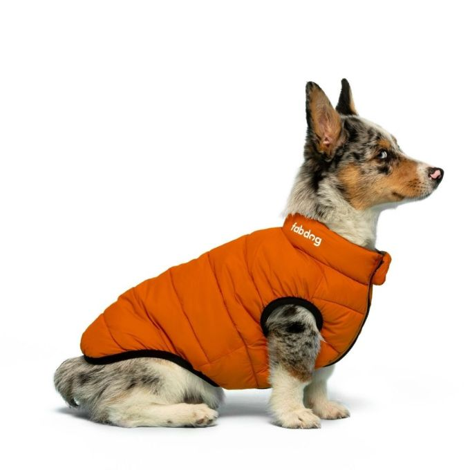 doudoune reversible kaki et orange fabdog