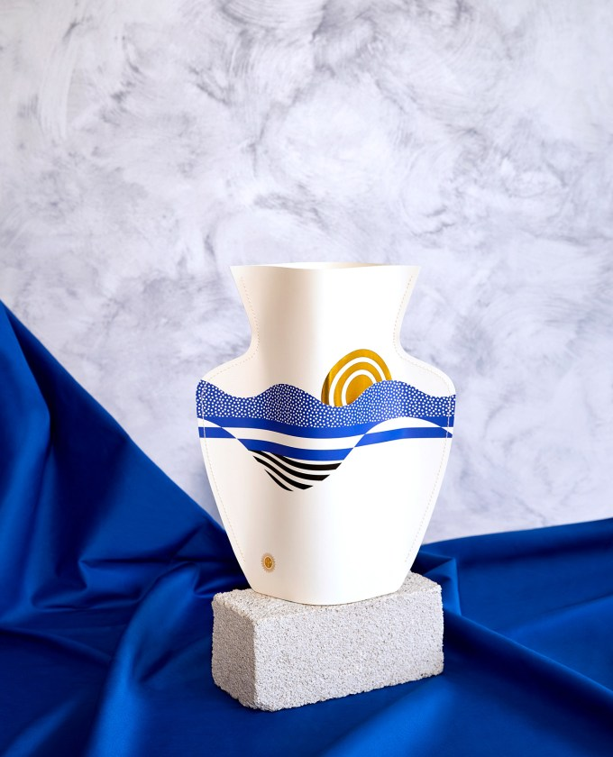 vase en papier salina octaevo