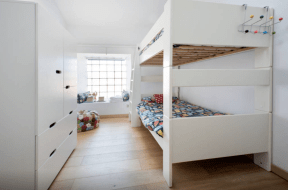 Quad room for kids (two bunks, one high double)