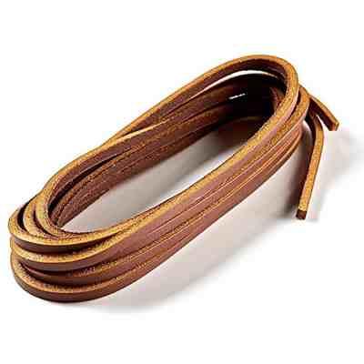 Cette photo représente le produit : Lacets cuir bateau timber 110  cm marron