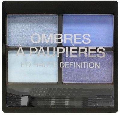 Ombres à paupières haute définition HD 4 couleurs bleues