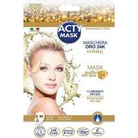 ACTY MASK - Lot de 2 masques tissu hydrogel à l'or 24 K