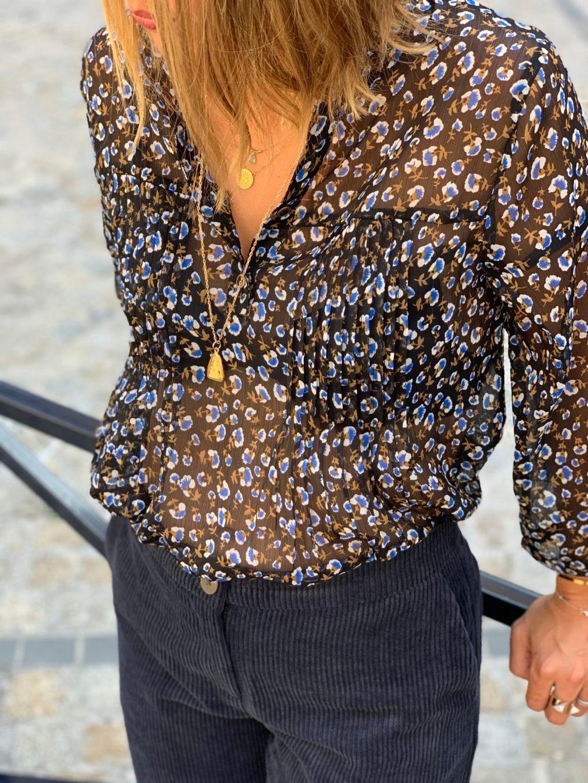blouse légère, blouse transparente, blouse fleurie