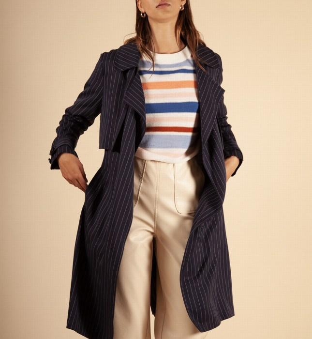 Frnch, Trench, trenchcoat, manteau bleu, imper bleu, imper,