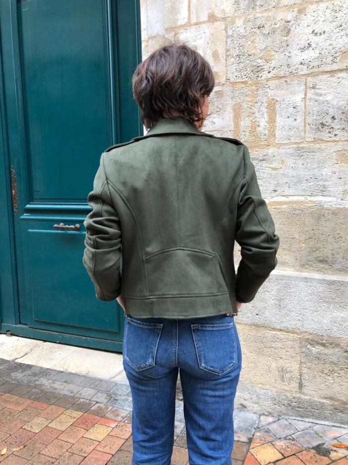 veste simili cuir Vila, veste suedine, veste kaki, veste VIFADDY Vila, Vila clothes