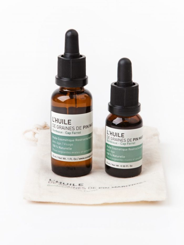 huile visage oceopin, cosmetique naturelle, cosmetique bio, vegan, oceopin, cap ferret, cosmetique francaise