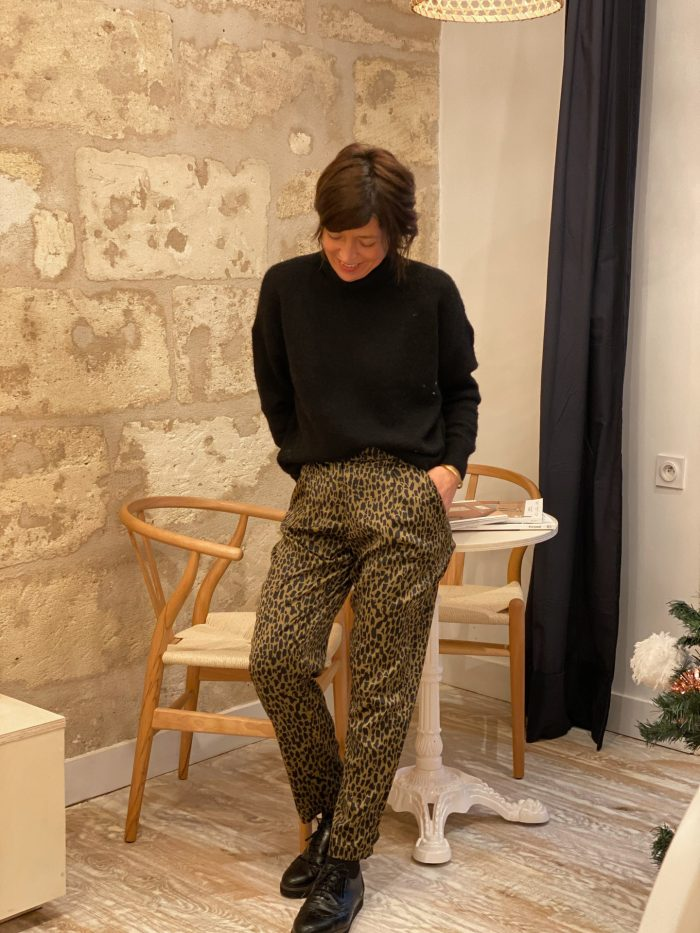 pantalon, léopard, vila, maison, prune