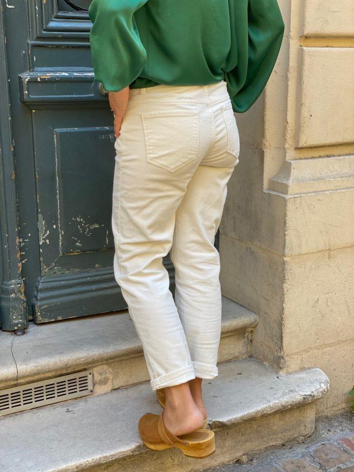 pantalon velours côtelé, pantalon crème, vila