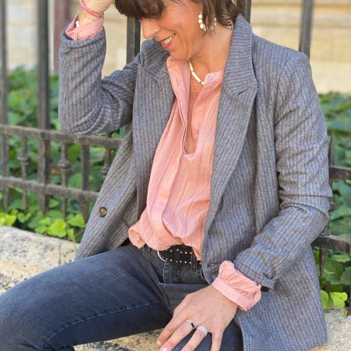 veste tailleur, veste de blazer, garance, maison prune