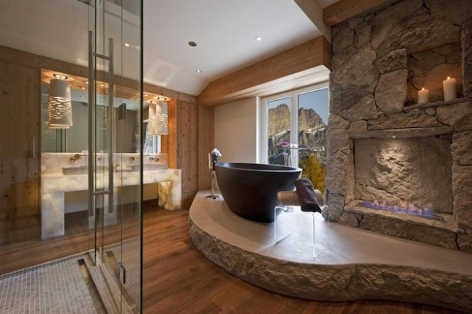 luxury stone shower robeson design transitional bathroom