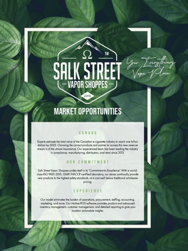 Maison ZOLTS - Salk Street Vapor Shoppes Franchising Pitch Deck