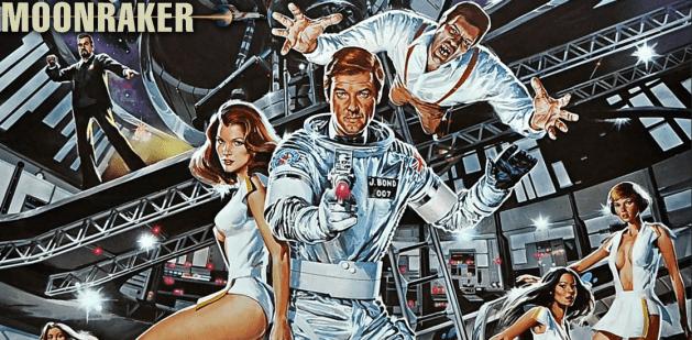 James Bond dans un processus d'appropriation technologique lors d'une mission dans l'espace (Moonraker)