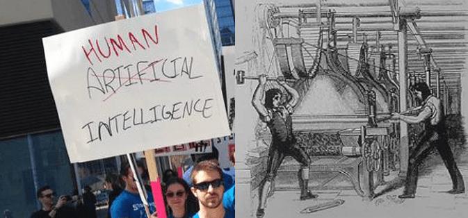 Après les casseurs de machines du XIX, les critiques de l'intelligence artificielle