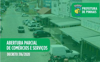 Prefeitura de Pinhais autoriza retorno de algumas atividades com restrições